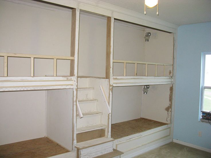 built in bunk beds plans - Google Search