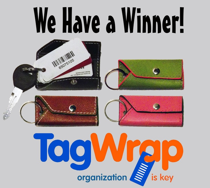 Congratulations to @Alison Lyne.  Alison was last week's winner of a free TagWrap!  Keep Repinning to win!  Another winner this week!  www.tagwrap.com