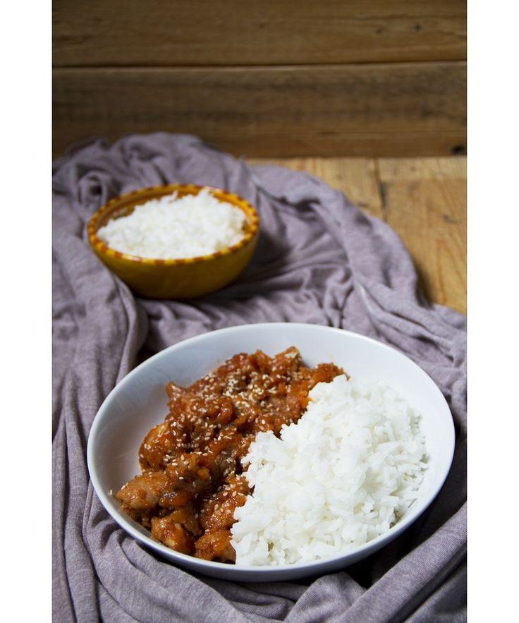 Pollo al miele e sesamo con riso basmati | Col cavolo