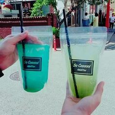 """Fresh-squeezed Lemonade (봉지 레몬에이드)   You can find lemonade and other various fresh-pressed juice stands every couple of blocks. If you need help, just look for whichever stand has the most women standing in line. The vendors are usually buff oppas wearing gauzy white v-necks with stand names like """"Mr. #1 Lemonade""""."""