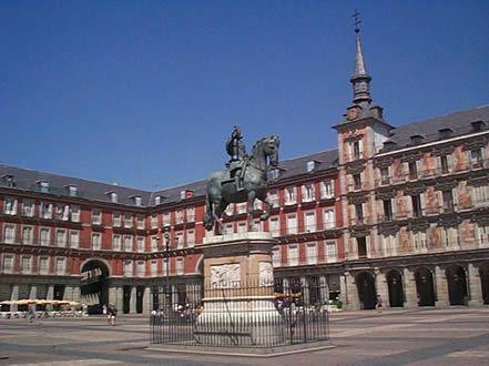 Pintura de La Plaza Mayor en Madrid, España