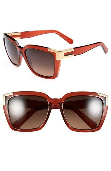 Chloé 56mm Rectangle Sunglasses available at #Nordstrom