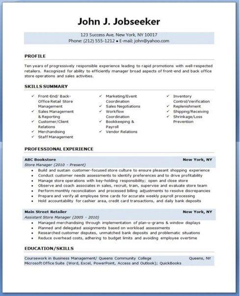 retail manager resume template httpjobresumesamplecom2022retail