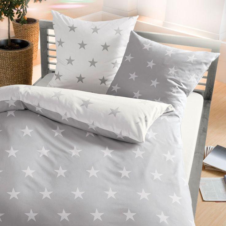 biber bettw sche stars schiefer online kaufen bettw sche. Black Bedroom Furniture Sets. Home Design Ideas