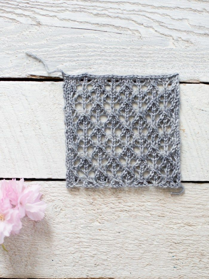 How To Make An Easy Lace Knit Shawl Pattern Flax Lace
