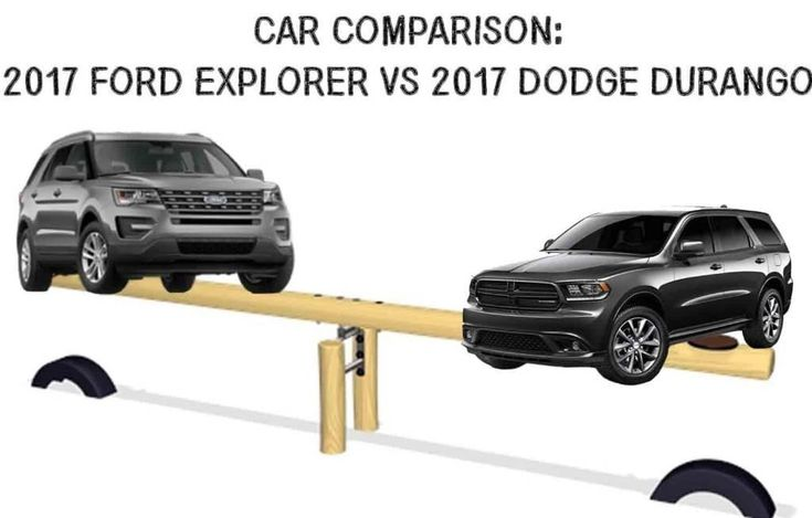Which SUV comes out on top when the comparison is between the 2017 Dodge Durango and the 2017 Ford Explorer? #SUV #Cars #Ford #Explorer #Dodge #Durango #Automotive