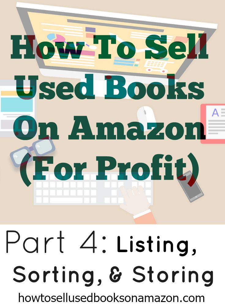 Part 4 - How To List Books On Amazon.   Also, learn how we store our Amazon book inventory! How to find used books at thrift store and sell them online for profit! Learn how to sell books on both eBay and Amazon.