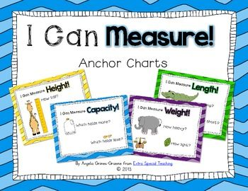 I Can Measure Anchor Charts (freebie)