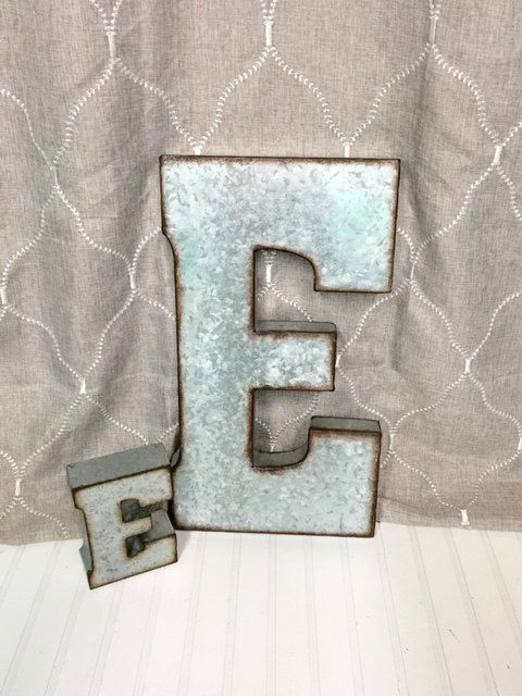 Metal Letters For Wall Decor 19 best large galvanized letters images on pinterest | metal