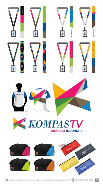 Randi Rosli: Kompas TV : Lanyard, T-Shirt and Small Bag Merchandise Design