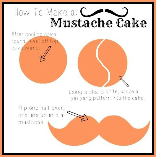 Baking with Blondie : Mustache Cake Tutorial - cool idae for a man or little boys birthday party cake.