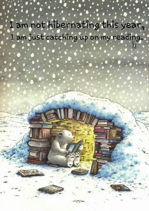 Image result for clip art snowing library quotes