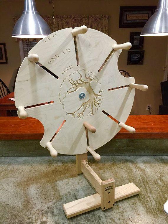 Bobina árbol madeja devanadera - hermoso arce sólido - Adj. yardas 1-2 - Custom diseñado y hecho - devanadera se echan a perder U