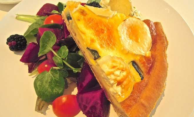 Goats' cheese and courgette quiche, Photo of Southsea - IgoUgo