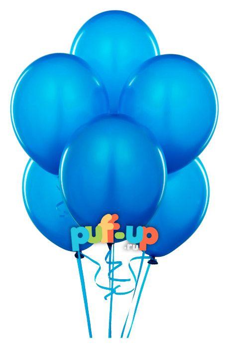 Синие воздушные шарики в Москве
