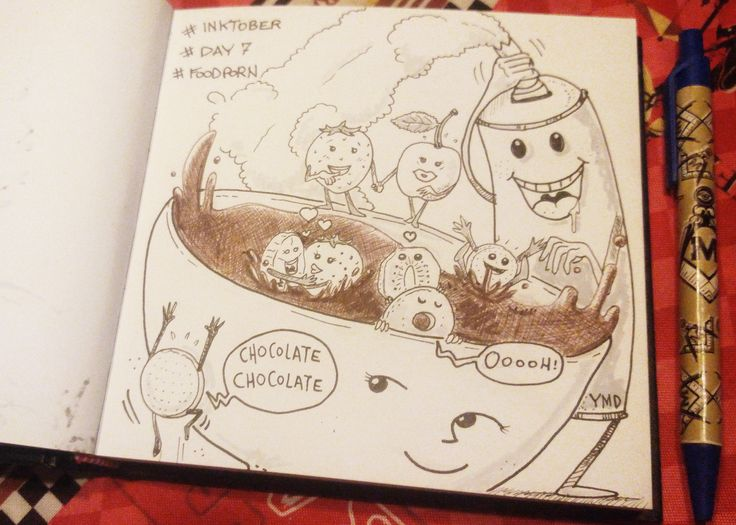 day 7 tema: foodporn #inktober #inktober2015 #day7 #sketchbook #illustration #illustrazione #food #foodporn #massoneriacreativa #ink
