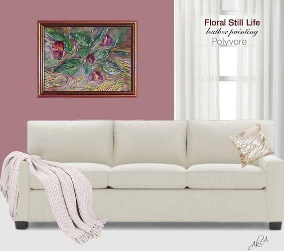 #painting #leather #burgundy #abstractpainting #wallart #homedecor #leathergift #leatherart #floralpainting #flowers #artnouveau #leatherpainting #original #stylish #modern #decor #interiordesign #floralstilllife #art #artdecor #polyvore