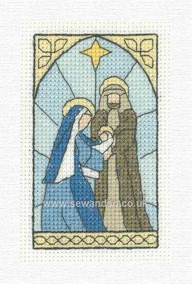Nativity Scene Christmas Card Cross Stitch Kit