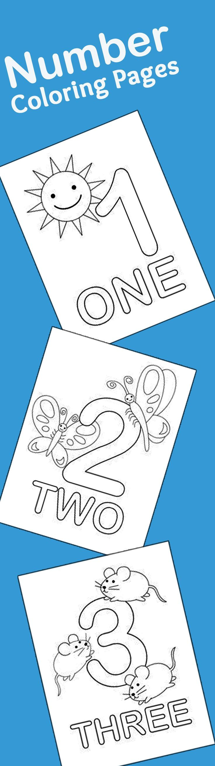 21 Easy To Learn Number Coloring Pages For Kids: This is a list of the top 21 number coloring sheets that you can use to introduce numbering as well as coloring to your kid