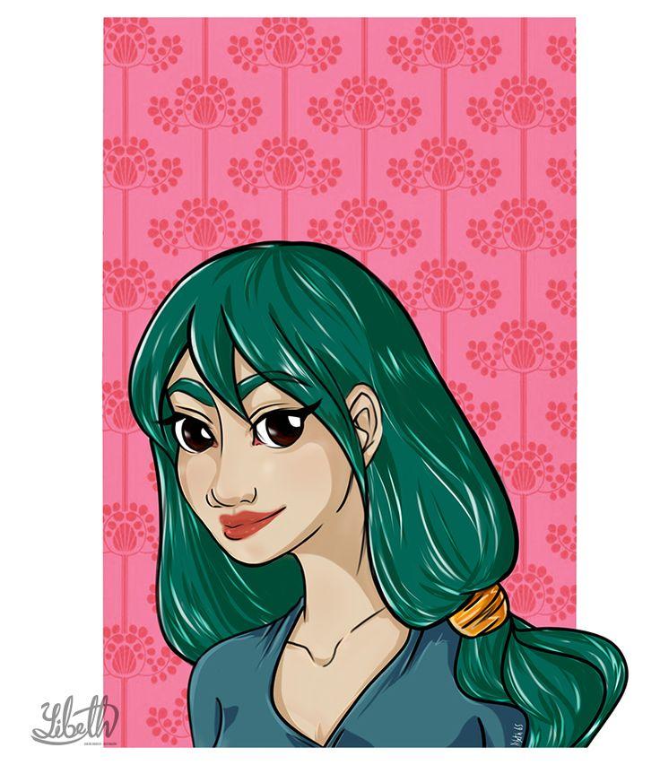 Ilustración Digital. Diseño personal. Autor: Yibeth Gonzalez Silva. Concepto: Retrato. Paint tool SAI.