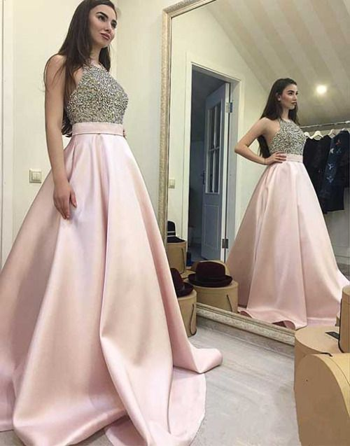 Charming Prom Dress,Sexy Prom Dress,Backless Halter Prom Dresses,Ball