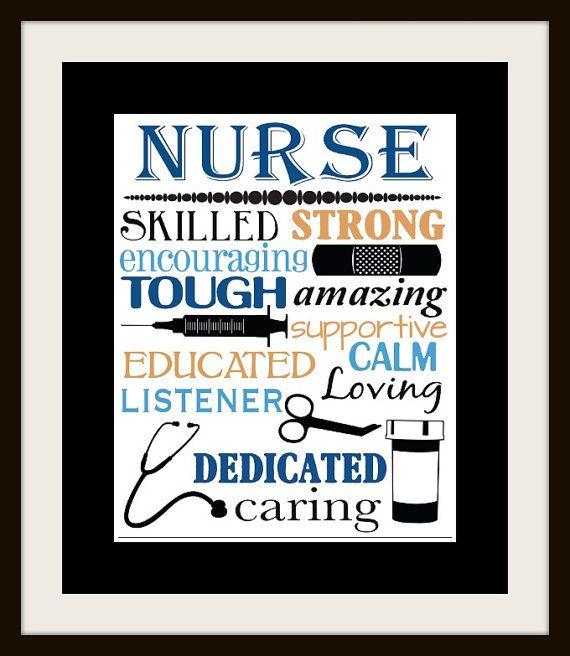 Nurse printable - nurse gift ideas - nurse wall art - nurse subway art - nurse print - nurse gift - nursing student gift
