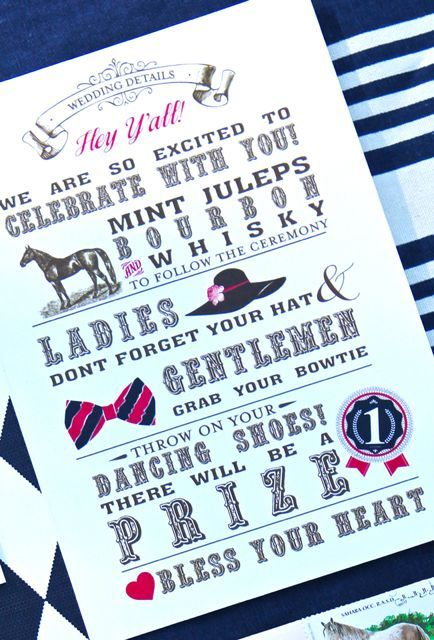"""Cute party idea. Kentucky Derby theme. """"My Sweet and Saucy"""" blog."""
