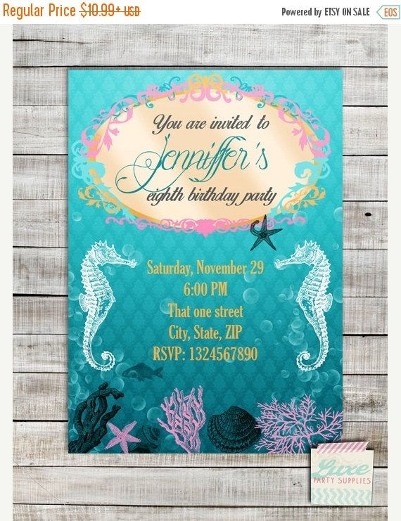 31 best Stingray bday party images on Pinterest Seahorses - fresh invitation for birthday party by email
