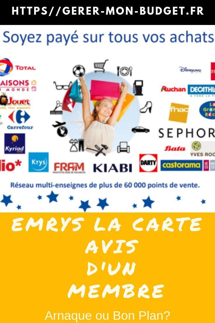 Emrys La Carte Avis D Un Membre Arnaque Ou Bon Plan