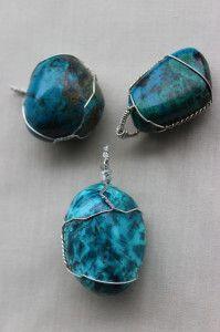 chrysocolla pendants