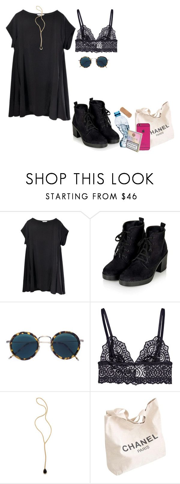 """moderat-out of sight"" by paramorebianka ❤ liked on Polyvore featuring Topshop, Eyevan 7285, Jacquie Aiche, Chanel, women's clothing, women's fashion, women, female, woman and misses"
