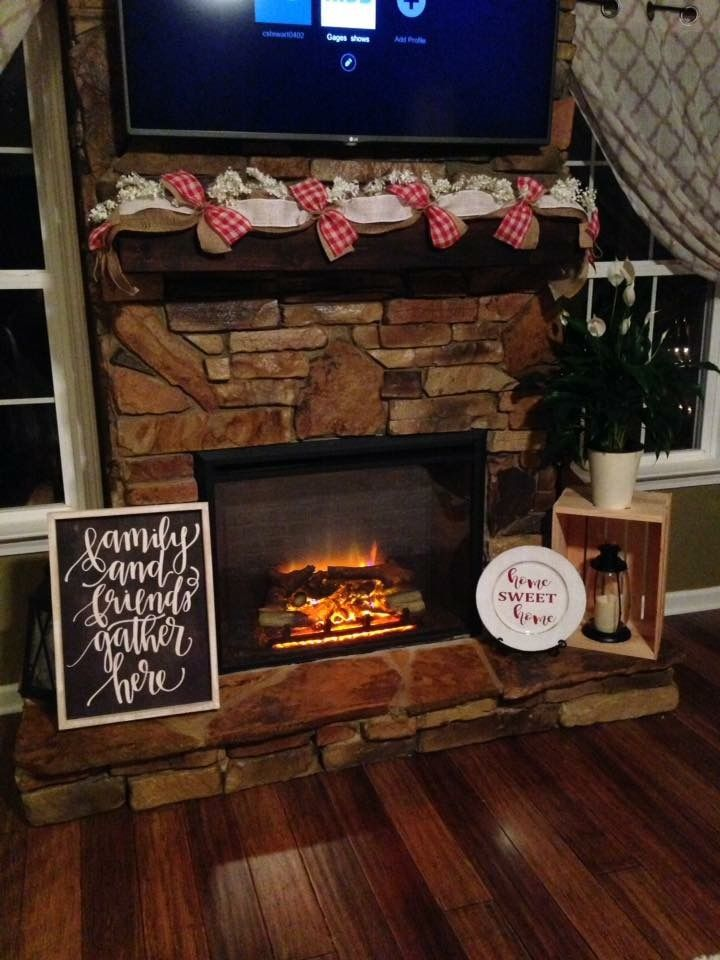 Year around fireplace decor. From Hobby Lobby | Decor ...
