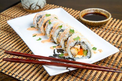 Buffalo Chicken Sushi: Www Closetcook, Yummy Food, Buffalo 66, Closetcook Com, Grilled Vegetables, Food Recipe, Chicken Sushi Recipe, Closet Cooking, Buffalo Chicken