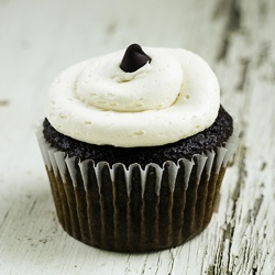 Chocolate Stout Cupcakes. Made with a whole bottle of Guinness!