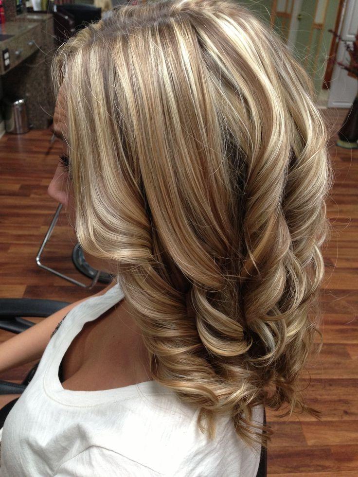 Blonde and brown streaks
