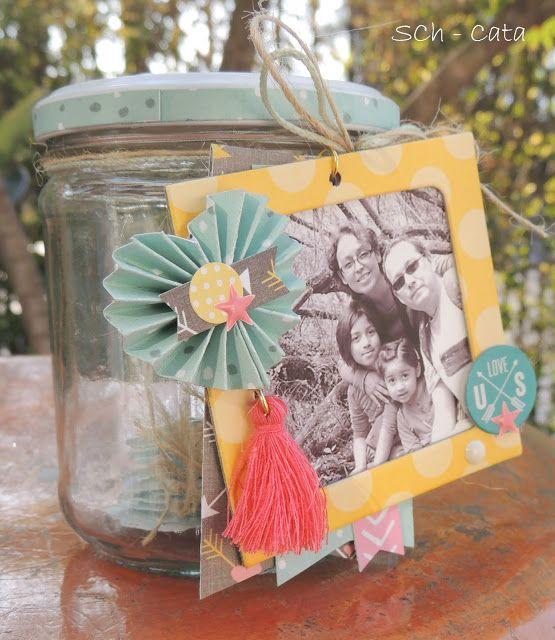 Love in a jar...ideas para enamorados y otras celebraciones. Scrapbooking. Antukuyem scrap ...scrapbook, amor a primera vista: tutorial