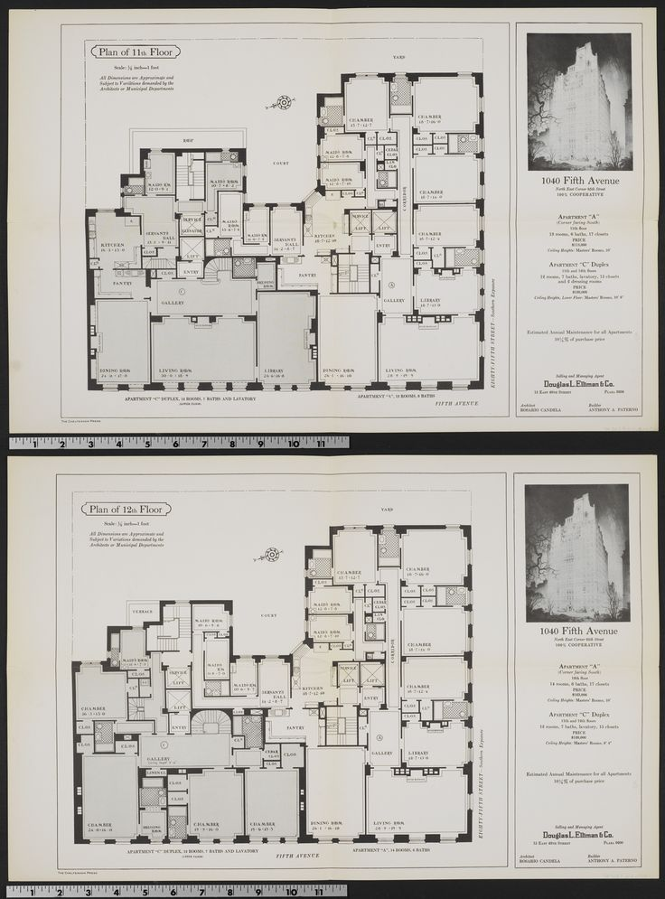 1040 fifth avenue 11 12th in 2020 apartment floor plans
