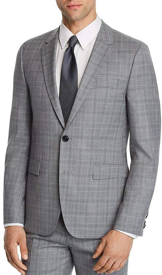 f0d3ead5d900f HUGO Astian Slim Fit Tonal Plaid Suit Jacket