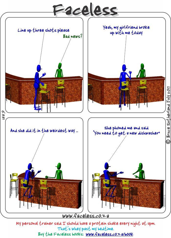Faceless Comics: Line up three shots please