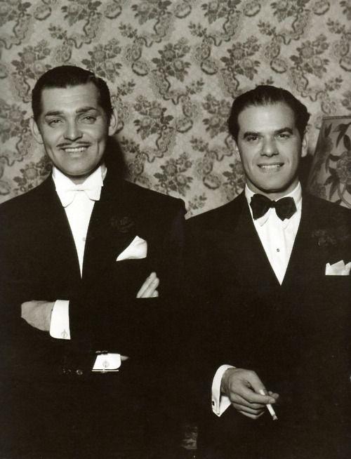 Clark Gable and Frank Capra at the Oscars (1934).