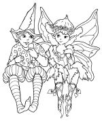 TONNES of Fairy, Elf, Unicorn, fantasy type colouring pages.