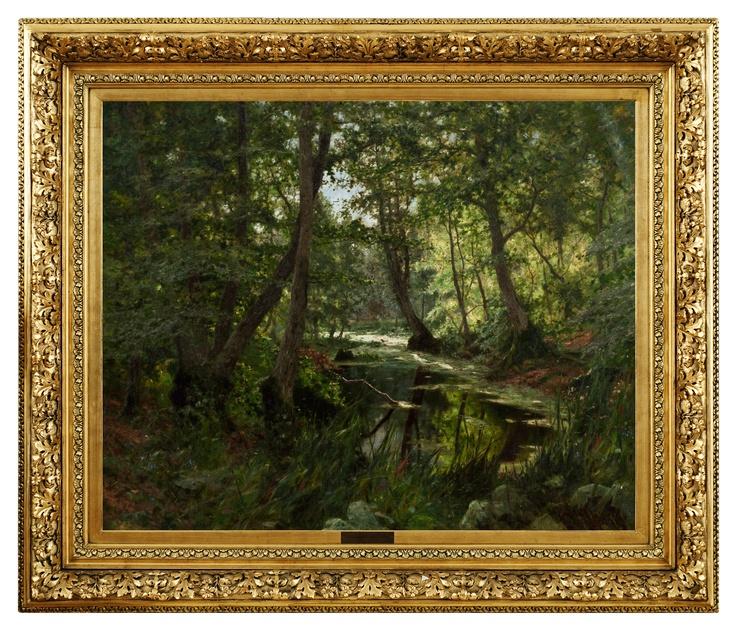 JULIUS MAŘÁK (1832-1899) Lesní tůně