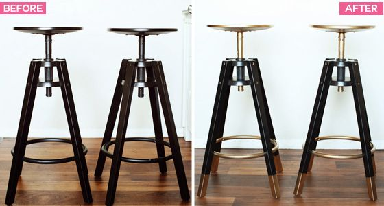 We got these DALFRED bar stools from IKEA as sort of a temporary thing. At $40 a pop they were a pretty good option and close enough to what we were looking for at the time. Eventually I got bored ...