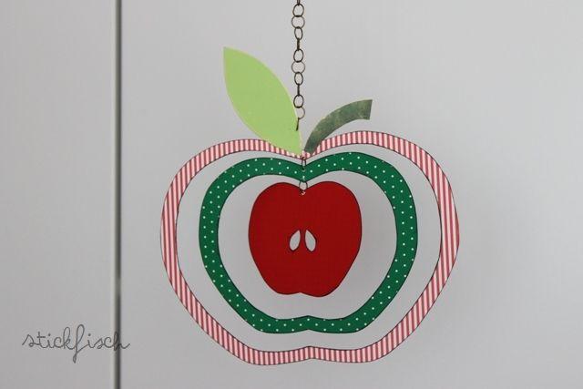 StickFisch: PAPPERÄPPLE Apfel-Mobile