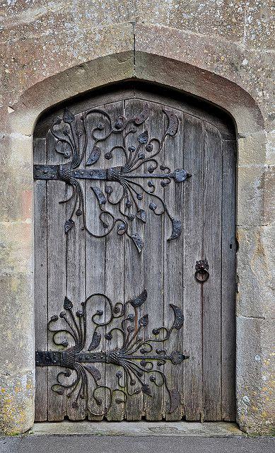 South Door, St.Mary's Church, Meare, Somerset, England ~ medieval door hinges are from 1323 | Peter on flickr