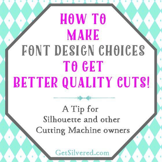 Cut Comparison using smooth or Angular Font