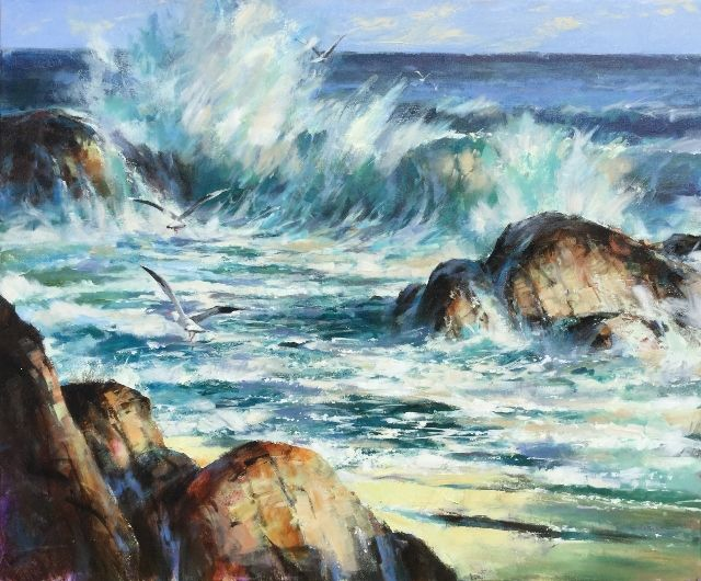 "'East Cape Magic' Brent Heighton Original Acrylic on Canvas 36""x48"" www.brentheighton.com www.theoldtowngallery.com"