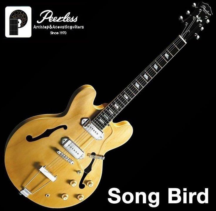 Peerless Songbird Semi Hollow Body Archtop Jazz Electric Guitar P90 Style #Peerless