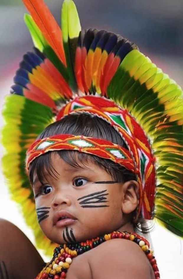 Adorable Native Brazilian child