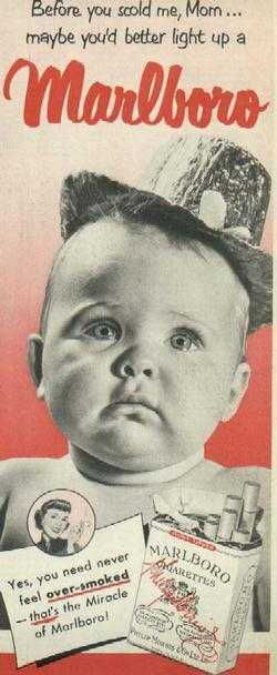 baby selling Marlboro cigarettes?